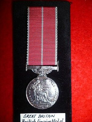British Empire Medal, King George V, Silver Miniature Medal, ERII Cypher