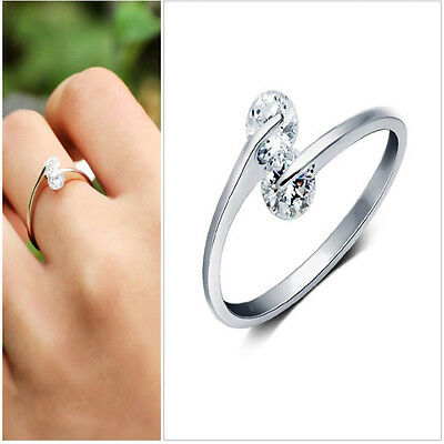 Fashion  Silver Plated ring finger fashion women Ring opening Adjustable GIFT