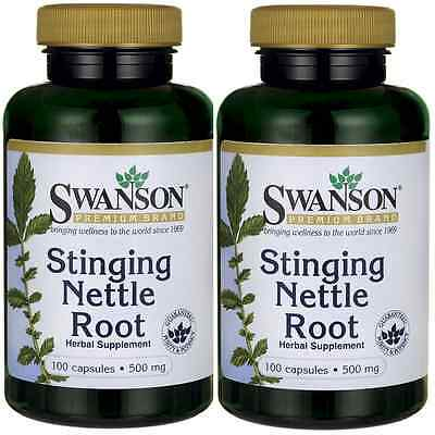 2X Stinging Nettle Root 500 mg x 100 (200) Caps (Urtica dioica) - 24HR DISPATCH