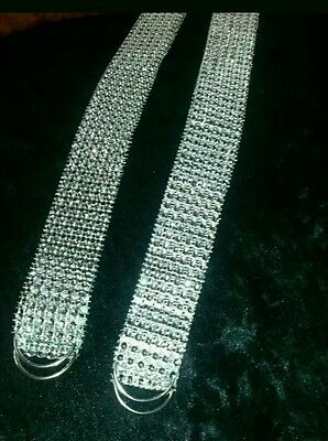A PAIR OF SPARKLY SILVER CURTAIN TIE BACKS Diamonte Glittery Posted ASAP £2.25X