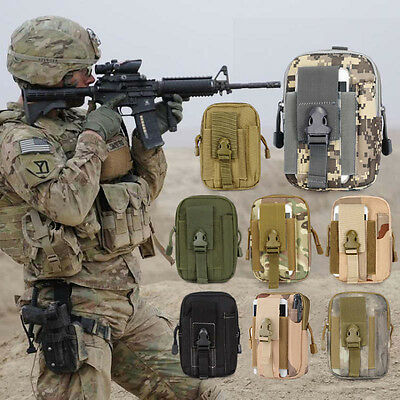 Molle Waist Pack Military Woodland Hiking Utility Mobile Pouch Belt Bag