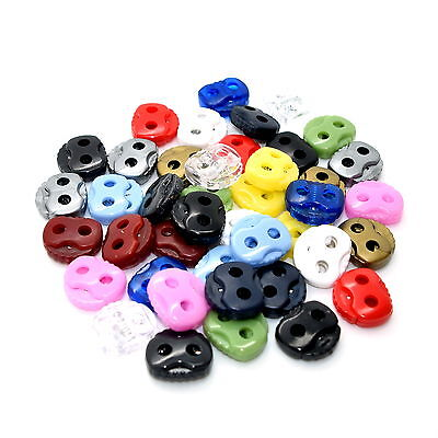 Double Hole Cord Stoppers Lock Toggle Stop End ❀ 17 Colours ❀ Metal Spring ❀ UK