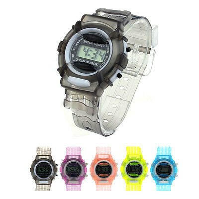 Boys Girls Children Students Waterproof Digital Wrist Sport Watch New Elegant