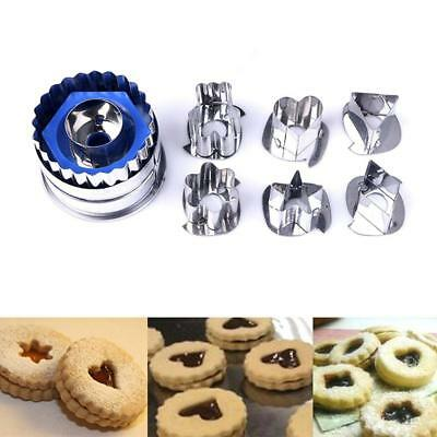 7Pcs DIY Christmas Cutter Mould Stainless Steel Biscuit Cookie Decorating Set CB