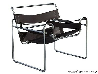 Vintage Mid-Century Modern Chrome Wassily Lounge Chair