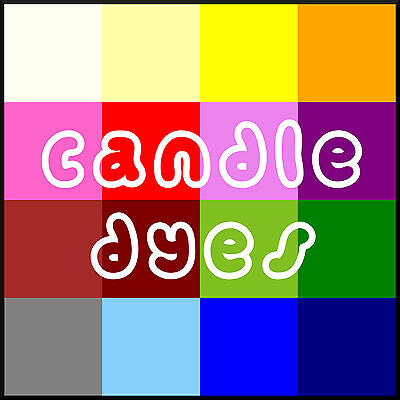 Candle Dyes Dye 2g of Pigment Colour for up to 2Kg of Wax & Stearin ❀ 18 Colours