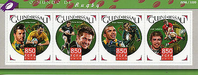 Guinea-Bissau 2015 MNH Rugby 4v M/S Leigh Halfpenny Bryan Habana Sports Stamps