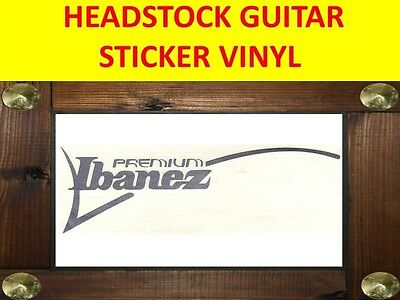 Ibanez Premium Silver Headstock Decal Sticker Visit My Store Custom Guitar