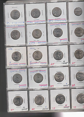 59x United States American State Quarters 25 Cent Coin 1999 - 2005 Delaware & P