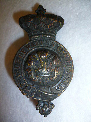 Victorian 10th Hussars Horse Martingale Badge, 95 mm high size