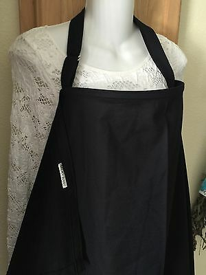 NEW  >NURSING COVER hider* BREASTFEEDING COVER EBONY BLACK XL 42X27""