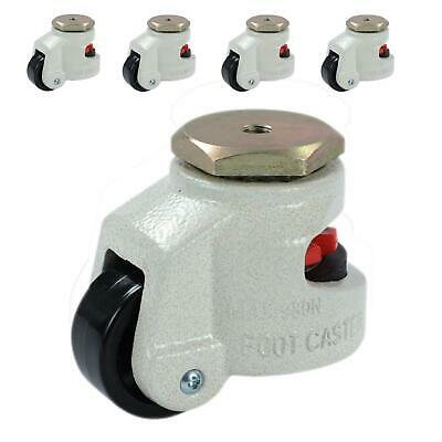 550566 4PCS Set Swivel Heavy Duty Machine Levelling Castors Wheels 40 to 100MM