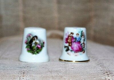Vintage China Sewing Thimbles unmarked lot of two