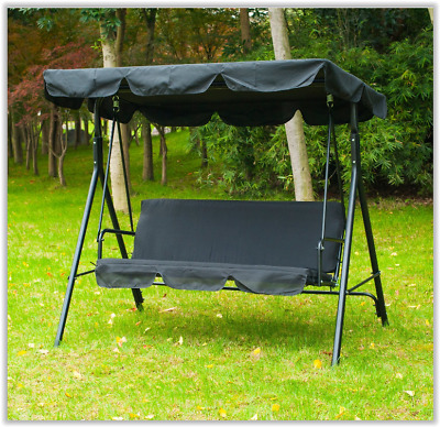 Outdoor Canopy Chair Garden Swing Seat Hanging Chairs Sun Lounger Patio Bench