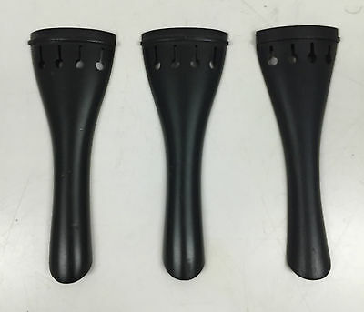 Ebony Violin Tailpieces - Full size, 3-Pack