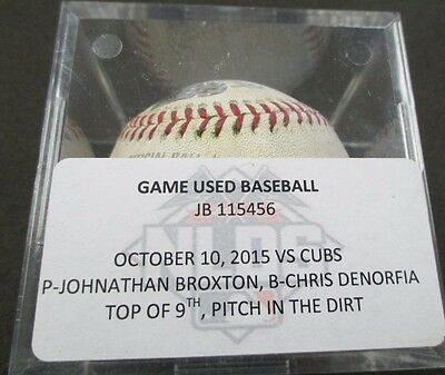 2015 Chicago Cubs Vs. St. Louis Cardinals Nlds Game #2 Game Used Baseball Mlb
