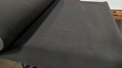 "5 Yards Dark Gray Automotive Carpet Upholstery Auto Pro Flexible 80""W 18 Oz."