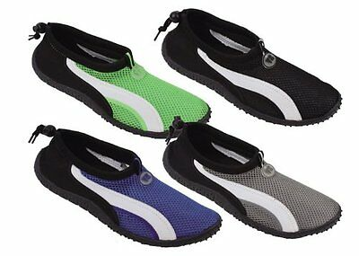 New Men's Mesh Athletic Mesh Water Shoes Aqua Socks Surf Beach Pool Shoes