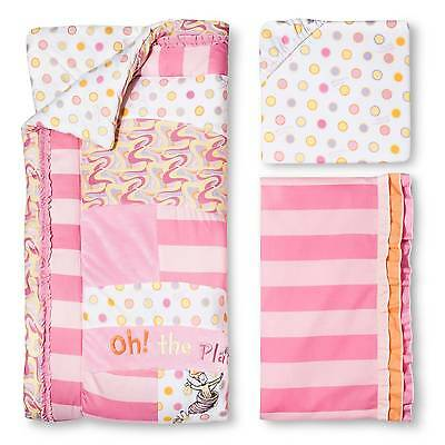 Dr. Seuss by Trend Lab 3pc Crib Bedding Set – Oh Places Pink