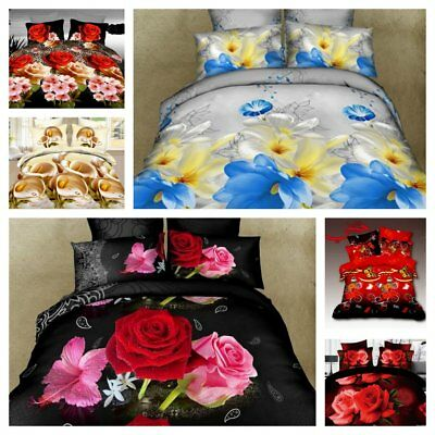 Stunning 3D Bedding Set Duvet Cover Single Double King Size Best Birthday Gift