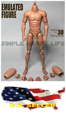 ❶❶ZC Toy 1/6 Emulated Muscular Figure body One Torso fit Bruce Lee Head USA❶❶