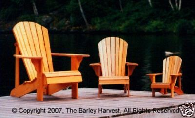 4 Pack of Muskoka Chair Plans (Adult,Youth,Junior,Child) - FULL SIZE PATTERNS