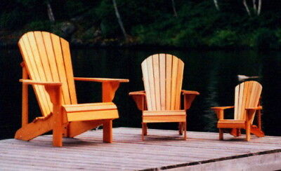 Children's Muskoka Chair Plans (Youth, Junior, Child) - FULL SIZE PATTERNS