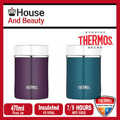 NEW Thermos 470ml STAINLESS STEEL Vacuum Insulated Food Jar Container Teal/Plum
