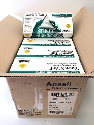 Ansell 92-600 Touch n Tuff Disposable Nitrile Gloves Powder Free Medium M  x400