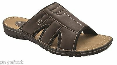 New Mens Grosby - Jacky (Ga) Sandals Shoes Open Summer Men's Brown