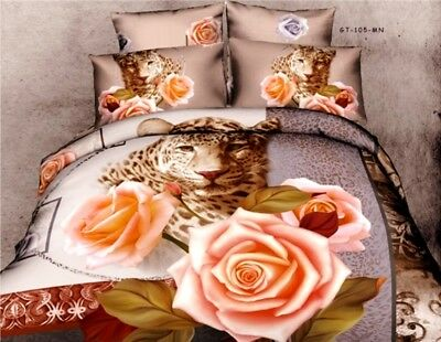 100% Cotton 3D Bedding Sets Double King Size Duvet Cover Pillow Cases Xmas Gift