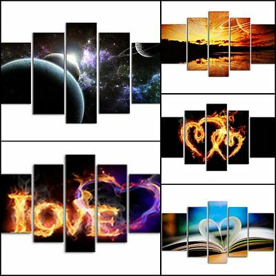 Amazing Modern Framed Large Split Multi Panels Parted Canvas Picture Print Love
