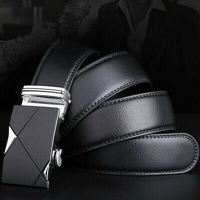 Luxury Men Genuine Leather Automatic Buckle Belts Waist Strap Belt Waistband