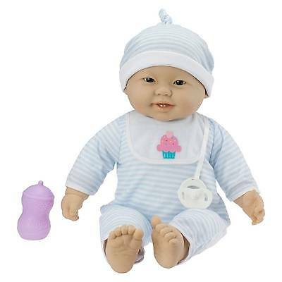 "JC Toys Lots to Cuddle Babies 14"" Soft Body Asian Baby Doll"
