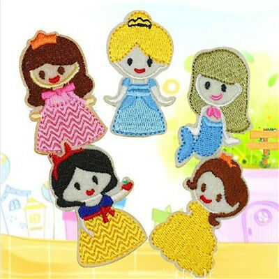 FD4054 Princess Embroidery Cloth Iron On Patch Sewing Motif Applique 1 Set 5PC♫