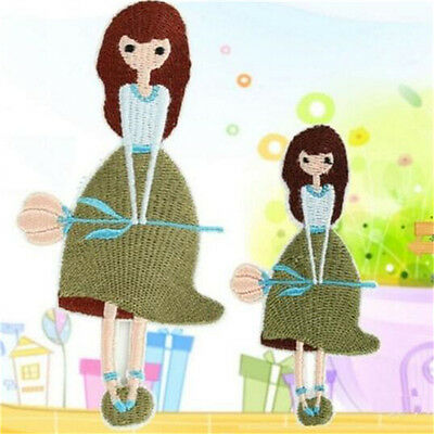 FD4061 Dress Girl Embroidery Cloth Iron On Patch Sewing Motif Applique Set 2PC♫