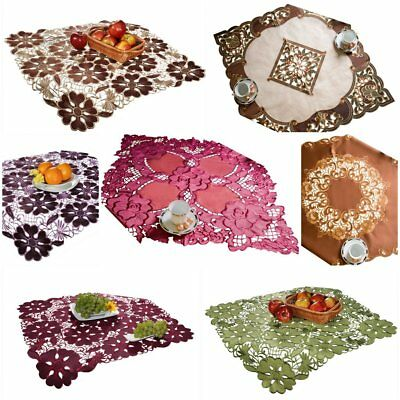 Amazing Embroidered Square Tablecloths 85 x 85cm Home Kitchen Table Decoration