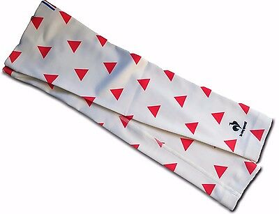 LE COQ SPORTIF Cycling Arm Warmers Unisex Performance Apparel White Fantaisie