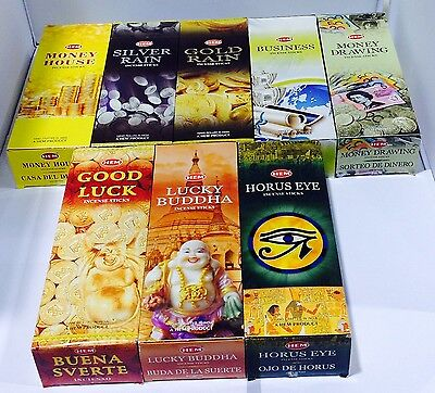 HEM MIXED BULK INCENSE STICKS - 8 Packets - 160 Sticks Money Luck Fortune