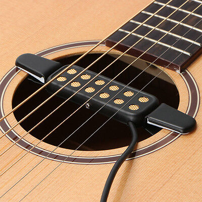 12 Hole Sound Pickup Microphone Wire Amplifier Speaker for Acoustic Guitar