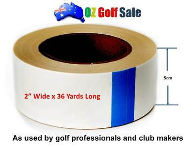 """1 Roll of 2"""" x 36yd Double Sided Golf Grip Tape Roll Solvent Activated"""