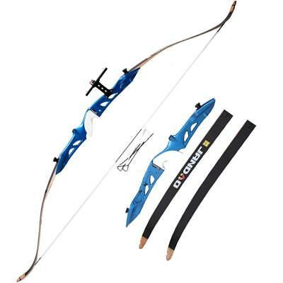 "Archery Takedown Alloy Riser Limbs Recurve Bow Target Games Hunting 66"" Longbow"