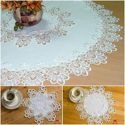 High Quality Round Tablecloths Doilies Lace Table Home Decorations White Ivory
