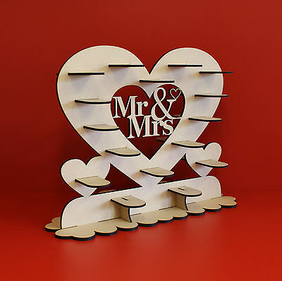 Table decoration Mr & Mrs fererro , chocolate heart stand , wedding display