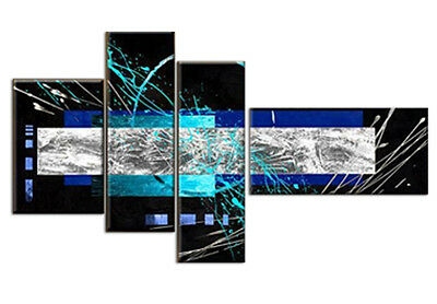 Modern Hand Painted Multi Split Canvas Pictures Home Art Decor Abstract Painting