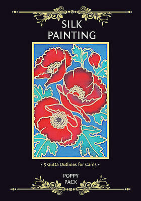Silkcraft Silk Painting Gutta Outlines - Card Making - Poppy Pack (Pack of 5)