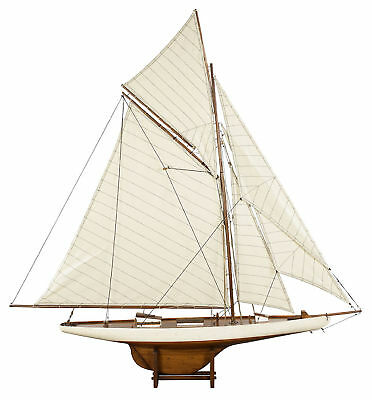 "Columbia 45"" America's Cup 1901 J Class Yacht Wooden Model Sailboat New"