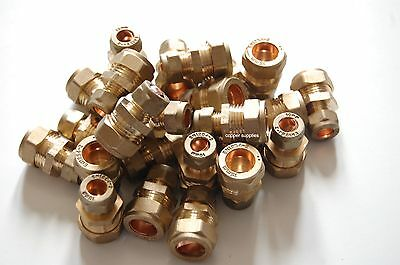 Brass compression fittings 15mm x 10mm Brass Reducing Coupler MULTIBUY/plumbing