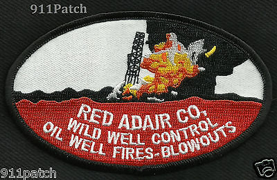 HOUSTON, TX - Red Adair Co OIL WELL FIRES - BLOWOUTS FIREFIGHTER Patch Fire Dept
