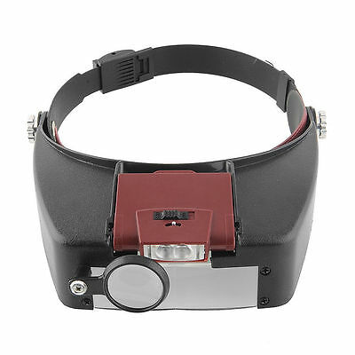 NEW Headband Headset 10× Magnifier Magnifying Glass Loupe with LED Light tool